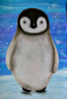 art using acrylic and watercolor for background & charcoal for shading t., Penguin art using acrylic and watercolor for background & charcoal for shading t., Penguin art using acrylic and watercolor for background & charcoal for shading t. Christmas Art Projects, Winter Art Projects, School Art Projects, Kids Art Class, Art For Kids, January Art, March, Polo Norte, 2nd Grade Art
