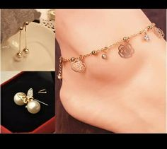 Ear studs with anklets