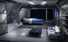Sleeping Quarters, Sam  Brown on ArtStation at https://www.artstation.com/artwork/sleeping-quarters