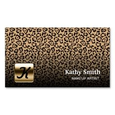 Makeup Artist Mini Card Black White Gold Dots DoubleSided Mini - Mini business cards template
