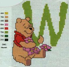 Winnie the Pooh Alfabet W