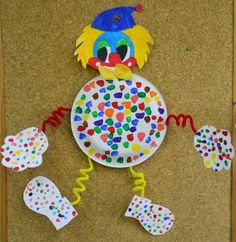 Lecture d& message - mail Orange - Clown Crafts, Circus Crafts, Carnival Crafts, Kids Carnival, Paper Plate Art, Paper Plate Crafts, Diy And Crafts, Crafts For Kids, Arts And Crafts