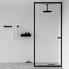 The best of minimal interior design from designjunction Minimal black bathroom - black shower screen. The best of minimal interior design from designjunction - Nichba - danish design Diy Interior, Bathroom Interior Design, Best Interior, Interior Logo, Bathroom Designs, Beautiful Bathrooms, Modern Bathroom, Small Bathroom, Bathroom Black