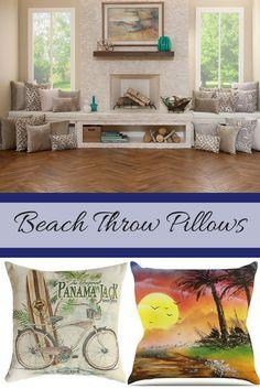 Beach Throw Pillows