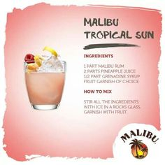 Malibu Rum Tropical Sun