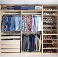 Is your closet overflowing? Here are closet storage ideas to help you gain more control over your closet space. Wardrobe Room, Wardrobe Design Bedroom, Master Bedroom Closet, Wardrobe Closet, Small Wardrobe, Closet Space, Small Closets, Closet Wall, College Wardrobe