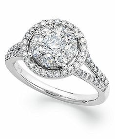 Prestige Unity Diamond Ring, 14k White Gold Circular Diamond Engagement Ring (1-1/4 ct. t.w.)