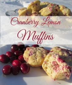 Cranberry Lemon Muffins Muffins. Made with coconut flour. Grain-free and Sugar-free too!