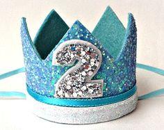 Gefroren Krone Disney Krone Stirnband jedes Alter Geburtstag Glitter Elsa Ice Queen