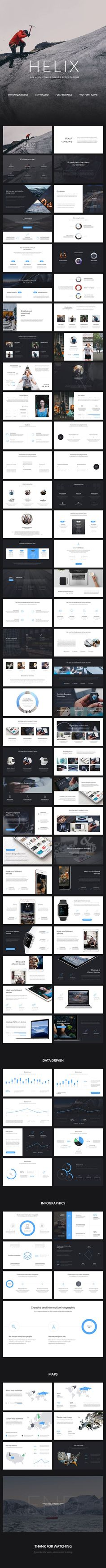 Helix PowerPoint Presentation #deck #design #digital • Available here → http://graphicriver.net/item/helix-powerpoint-presentation/15473833?ref=pxcr #deckdesigns