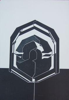 Obra grafica Pablo Palazuelo Nomserie   ediciones estiarte   Emblema III, 1980                Litografía                91 x 63 cm.                Edición de 75 ejemplares                Precio: 2.400 .-eur +IVA