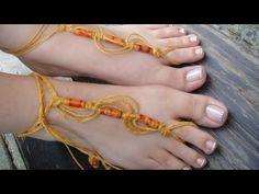 """Pulsera para el pie-Sun Foot Tie """"Macrame"""""""