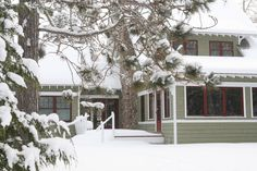 Winter time in Wisconsin! What a great destination home this would be. Notice the porch on the right. The master bedroom is on the left allowing both to have a great view of the lake, which is behind the photographer. If you like this home there are more of it on our boards. - John