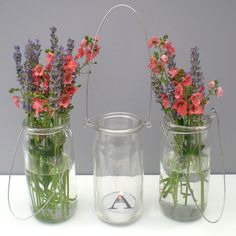 Glass Jar Lanterns Or Vases.
