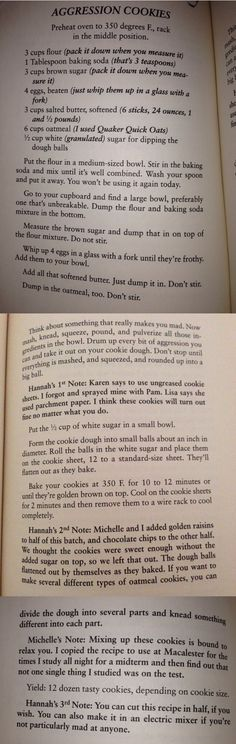 Aggression Cookies  From: Apple Turnover Murder by Joanne Fluke