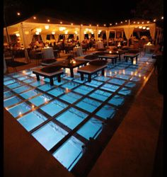 SO, as you consider venue ideas for your summer wedding, look no further than your very own swimming pool!    Have you seen these amazing plexi-glass pool covers that rental companies offer? Cute idea