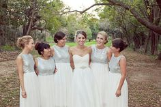 Modern Sequin Silver Bridesmaid Dresses! Beautiful!!!