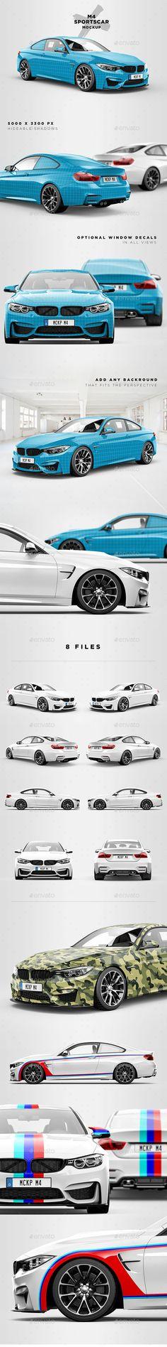 M4 Sportscar Mockup