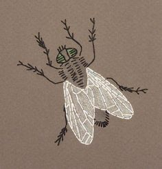 Embroidered Fly