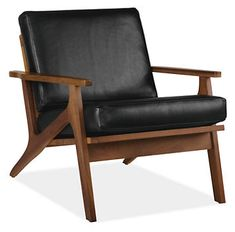 Sanna Leather Chair - Chairs - Living - Room & Board.  saw this today and we both really liked it.  not sure if leather or fabric or for where?  living room?  sun room?