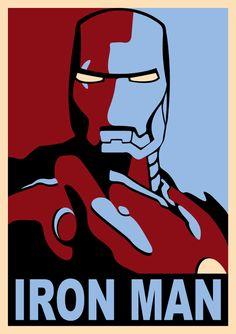 Poster Iron Man 2. Estilo Shepard Fairey
