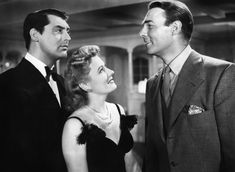 """Cary Grant, Irene Dunne and Randolph Scott in """"My Favorite Wife"""" (1940)"""