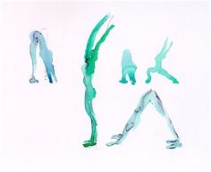 Watercolor yoga