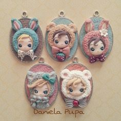 Polymer Clay Kunst, Cute Polymer Clay, Cute Clay, Polymer Clay Dolls, Polymer Clay Projects, Polymer Clay Charms, Polymer Clay Creations, Polymer Clay Jewelry, Clay Crafts