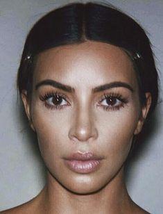 Kim Kardashian West without makeup