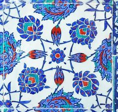 Lately in love with: Turkish Izmir tiles in Istanbul Classical Athens, Turkish Pattern, Turkish Design, Turkish Tiles, Mosaic Tiles, Mosaics, Enchanted Garden, Islamic Art, White Ceramics