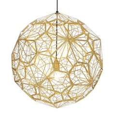 Tom Dixon Etch Web Pendant Brass