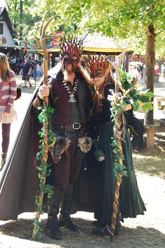 Lord and Lady of the Forest at Ren Faire