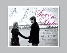 I like the wording and that Save the Date is in a diffrent color.