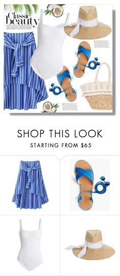 """""""Classic Beauty"""" by queenvirgo ❤ liked on Polyvore featuring J.Crew, MaxMara, Lola and Sun N' Sand"""