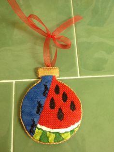 Watermelon ornament -- jody