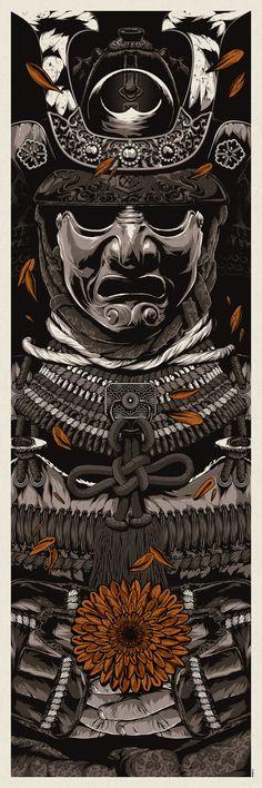 EVAN 053 Japanese Samurai - Combat Warrior from Japan Art Print Poster Fantasy Anime, Fantasy Art, Samourai Tattoo, Art Asiatique, Samurai Armor, Japan Art, Oeuvre D'art, Cool Art, Concept Art