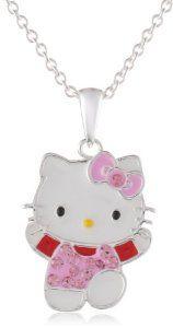 Hello Kitty Fine Silver Plated Crystal Enamel Pendant Enhancer  http://electmejewellery.com/jewelry/necklaces/pendant-enhancers/hello-kitty-fine-silver-plated-crystal-enamel-pendant-enhancer-com/