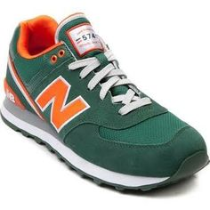 pretty nice 7c26f 16785 Mens New Balance 574 Athletic Shoe in Green Orange at Journeys Shoes.