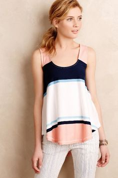 Striped Swing Tank - anthropologie.com