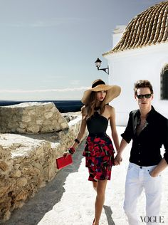 "Eddie Redmayne and Karlie Kloss ""Paradise Lost"" for VOGUE photographed by Mario Testino"