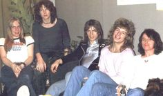 """Yes (from left to right) : Rick Wakeman, Chris """"King of bass"""" Squire, Steve Howe, Bill Bruford & Jon Anderson"""