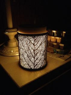 Linden Wrap with Glowing Core. One of my favorites!  Change the wrap and the entire look of the warmer for just $12! HeatherRicci.Scentsy.us