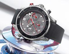 OMEGA - Seamaster Diver 300M Emirates Team New Zealand.  #OMEGA #watches #luxury
