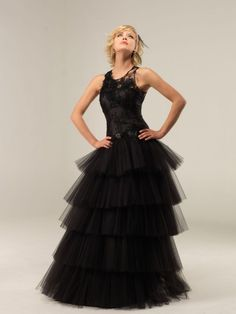 robe de mariée noire Lambert Créations