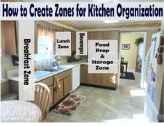 How to Create Zones for Kitchen Organization