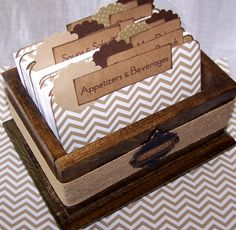 Recipe Box  Recipe Dividers and Cards Burlap by peachykeenday, $48.00