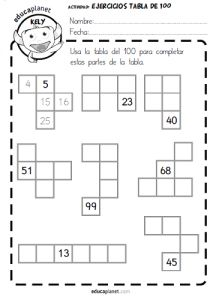 Del 1 al 100 1st Grade Math, Kindergarten Math, Teaching Math, Kids Math Worksheets, Math Activities, Phonics Rules, Maths Solutions, Primary Maths, Math Numbers