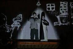 Nosferatu, peça encenada pela Academia de Palhaços.  Kombi palco.