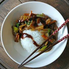 Pekingin kanaa ja kasviksia Beef, Food, Meat, Essen, Meals, Yemek, Eten, Steak