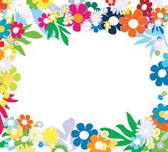 Floral Colorful Frames